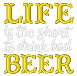 Drink Bad Beer embroidery design