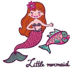 Little Mermaid embroidery design