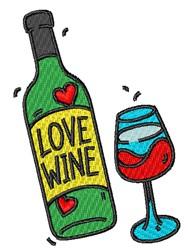 Love Wine embroidery design