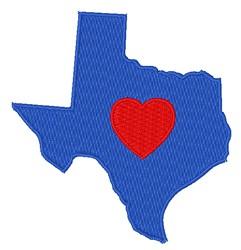 Love Texas embroidery design