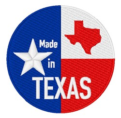 Made In Texas embroidery design
