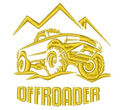 Off Roader embroidery design