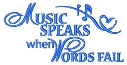 Music Speaks embroidery design