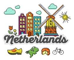 Netherlands embroidery design