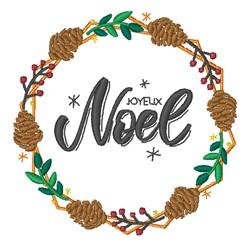 Joyeux Noel embroidery design