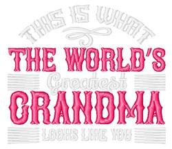 Greatest Grandma embroidery design
