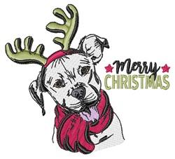 Merry Christmas Dog embroidery design