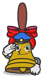 Policeman Bell embroidery design