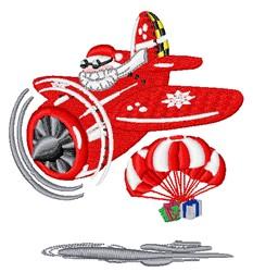 Santa Airplane embroidery design