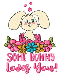 Some Bunny embroidery design
