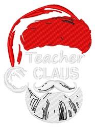 Teacher Claus embroidery design
