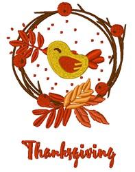 Thanksgiving Bird embroidery design
