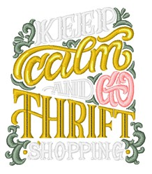Thrift Shopping embroidery design