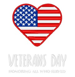 Veterans Day embroidery design
