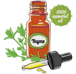 Thyme Oil embroidery design