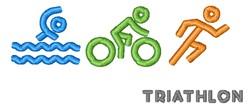 Triathlon embroidery design