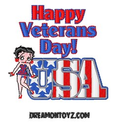 Happy Veterans Day embroidery design