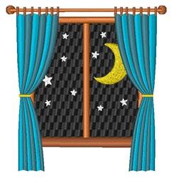 Night Window embroidery design