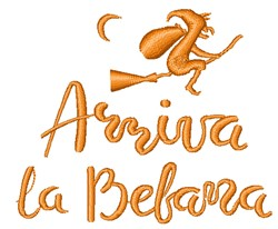 Arriva La Bebana embroidery design