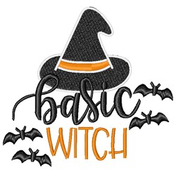 Basic Witch embroidery design