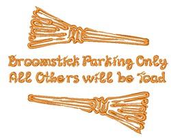 Broomstick Parking embroidery design