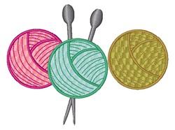 Kitting Yarn embroidery design