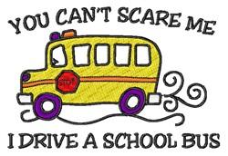 Drive School Bus embroidery design