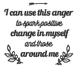 Positive Change embroidery design