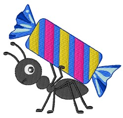 Candy Ant embroidery design