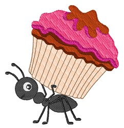 Cupcake Ant embroidery design