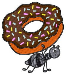 Donut Ant embroidery design