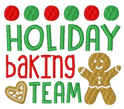 Holiday Baking Team embroidery design
