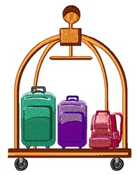 Luggage Cart embroidery design