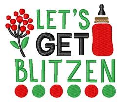 Lets Get Blitzen embroidery design