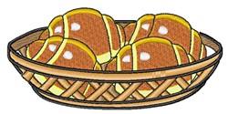 Croissant Basket embroidery design