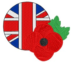 British Poppy embroidery design