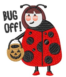 Bug Off embroidery design