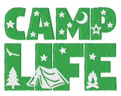 Camp Life embroidery design