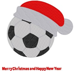 Merry Christmas Soccer embroidery design