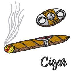Cigar embroidery design