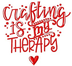 Crafting Therapy embroidery design