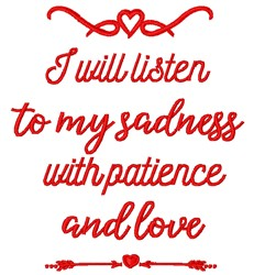 Patience And Love embroidery design