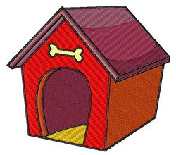 Dog House embroidery design