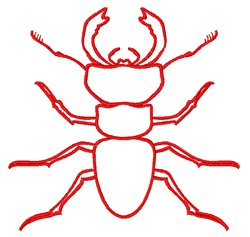 Beetle Outline embroidery design