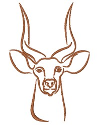 Antelope Outline embroidery design