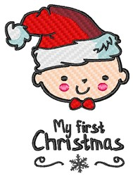 My First Christmas embroidery design