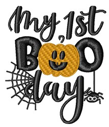 1st Boo Day embroidery design