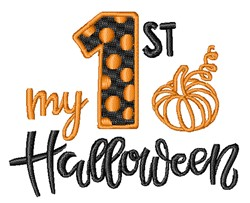 My 1st Halloween embroidery design