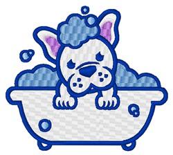 Dog Bath embroidery design