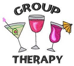 Group Therapy embroidery design